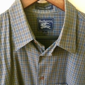 Burberry cotton/wool checkered shirt